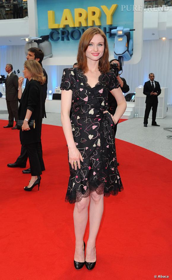 """Sophie Ellis Bextor, charmante lors de l'avant-première de """"Larry Crowne"""", à Londres."""