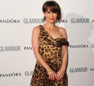L'ex chanteuse du S Club 7 mise sur une robe Dolce & Gabbana léopard, façon lingerie pour jouer les vamps.