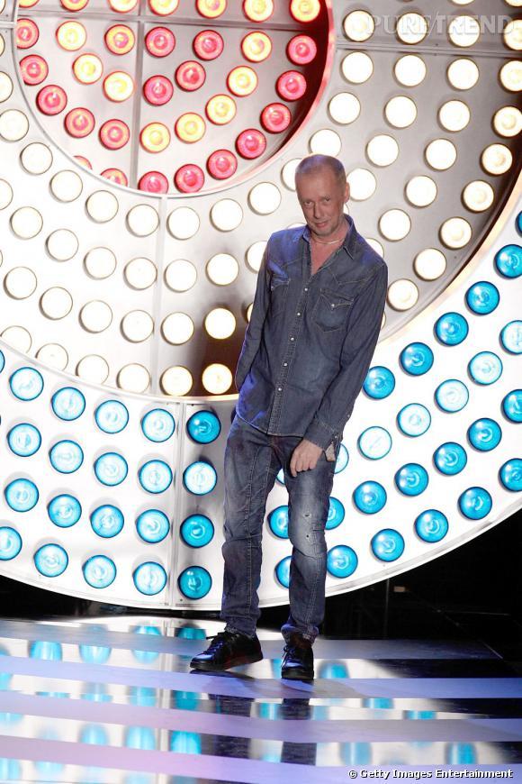 Bill Gaytten, nouveau directeur artistique de John Galliano, lors du défilé John Galliano Homme printemps-été 2012.