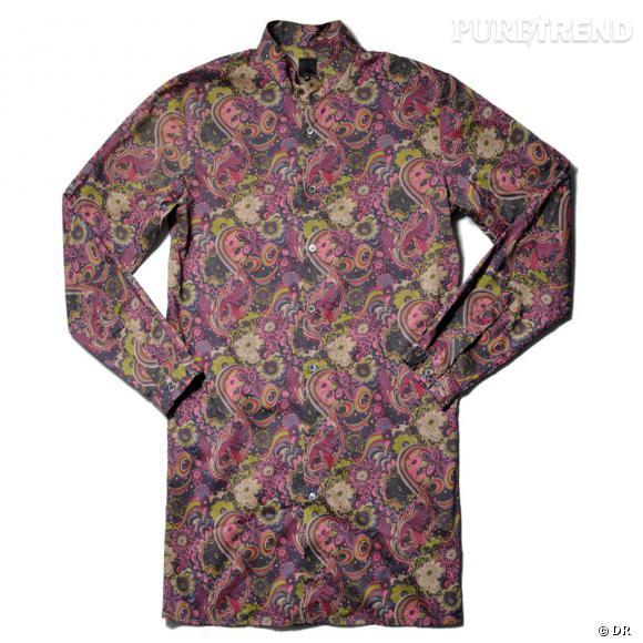 Chemise en coton imprimé Pretty Green, de Liam Gallagher.   220 €.