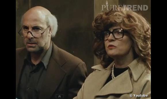 Stanley Tucci et Susan Sarandon version rétro et façon vieux grognons.