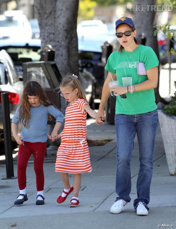 Jennifer Garner et sa fille à Santa Monica.
