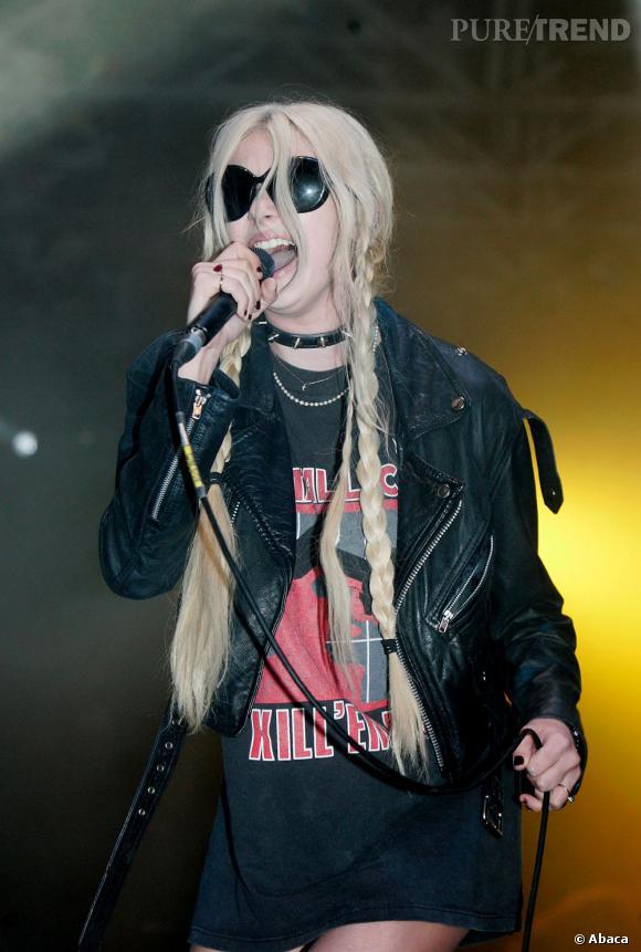 Taylor Momsen en concert à Hyde Park à Londres.