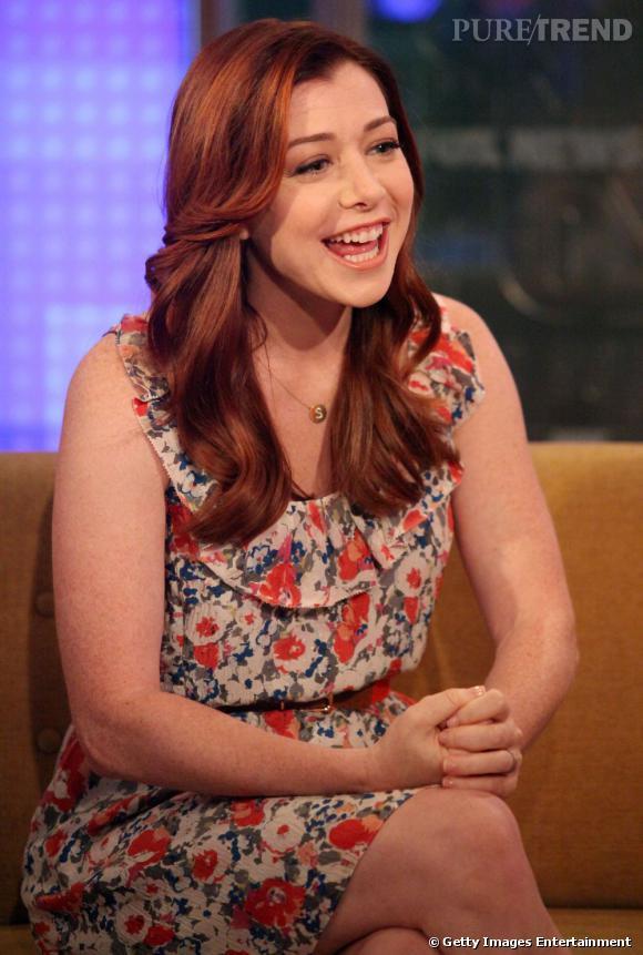 """Alyson Hannigan, conviée sur le plateau de l'émission """"Fox & Friends""""."""