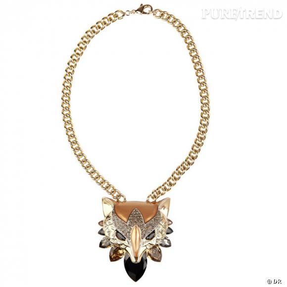 Pendentif renard en or