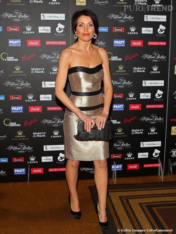 """Dannii Minogue, très glamour, pour la fondation """"A Million Dollar Lunch"""", en Australie."""