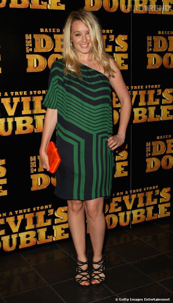 """Ludivine Sagnier, en robe asymétrique pour la première de """"The Devil's Double"""" à Londres."""