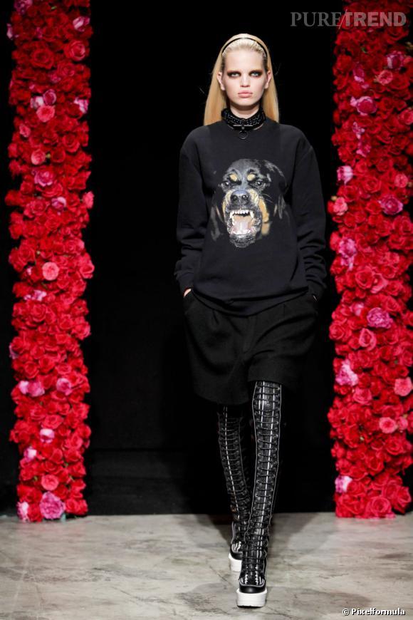 Zoom sur la mode enragée : le rottweiler Défilé Givenchy Homme Automne/Hiver 2011/2012.