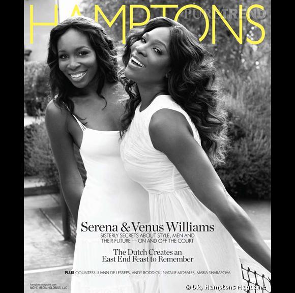Serena Williams et sa soeur Venus Williams pour le numéro du 19 août d'Hamptons Magazine.