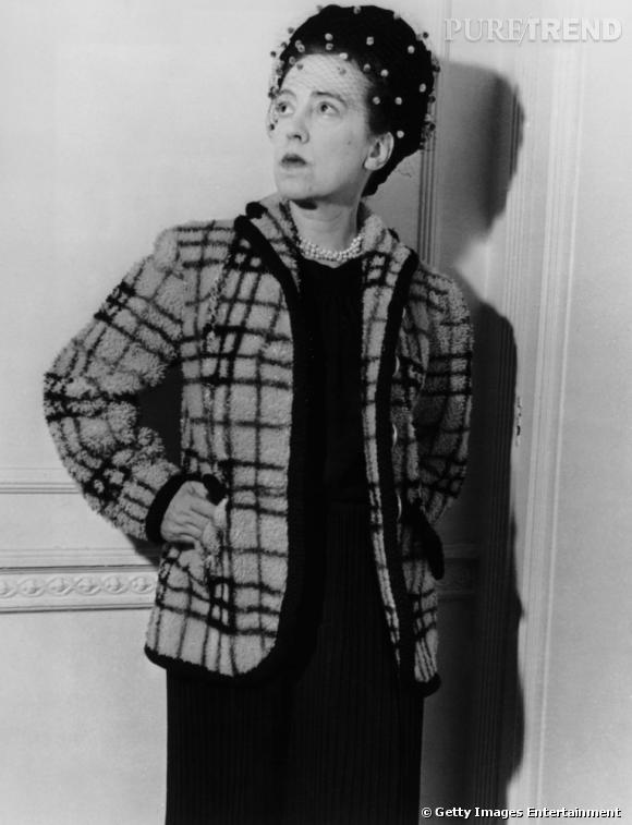 La créatrice Elsa Schiaparelli en 1947.