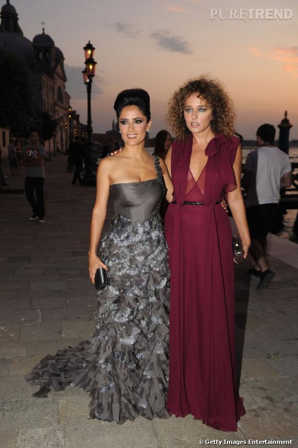 Salma et l'actrice Valeria Golino.