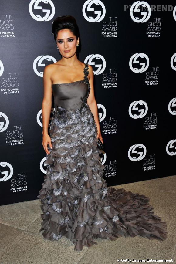 Salma Hayek lors de la soirée Gucci Awards For Women in Cinema à Venise.