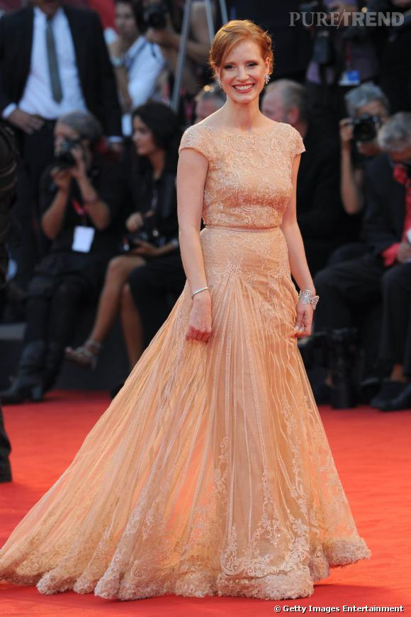 """Jessica Chastain lors de la première de """"Wild Salome"""" durant la Mostra de Venise."""