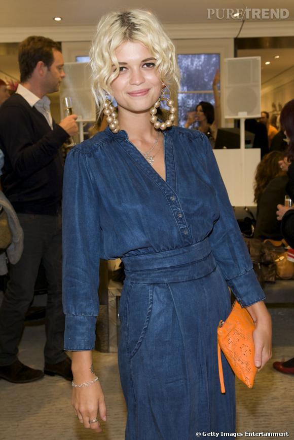 Pixie Geldof lors de la Vogue Fashion's Night Out de Londres.