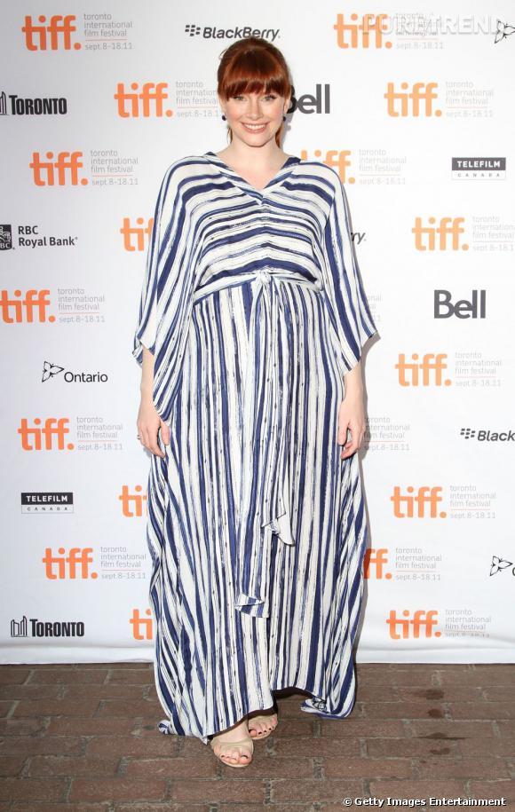 Toujours aussi spacieuses, les robes de Bryce Dallas Howard font également mal aux yeux.