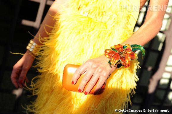 Anna et ses accessoires Sergio Rossi.