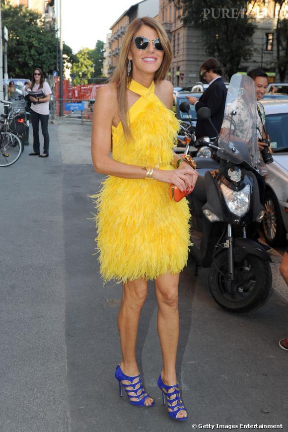 Anna lors du défilé Prada.