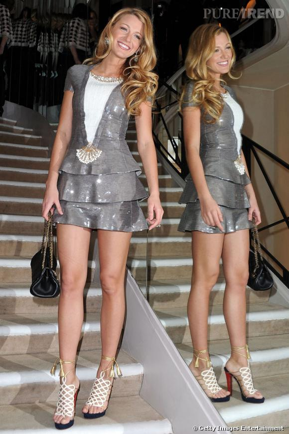 Nouvelle égérie en date pour le sac Mademoiselle, Blake Lively et ses jambes interminables ont plu à monsieur Lagerfeld.