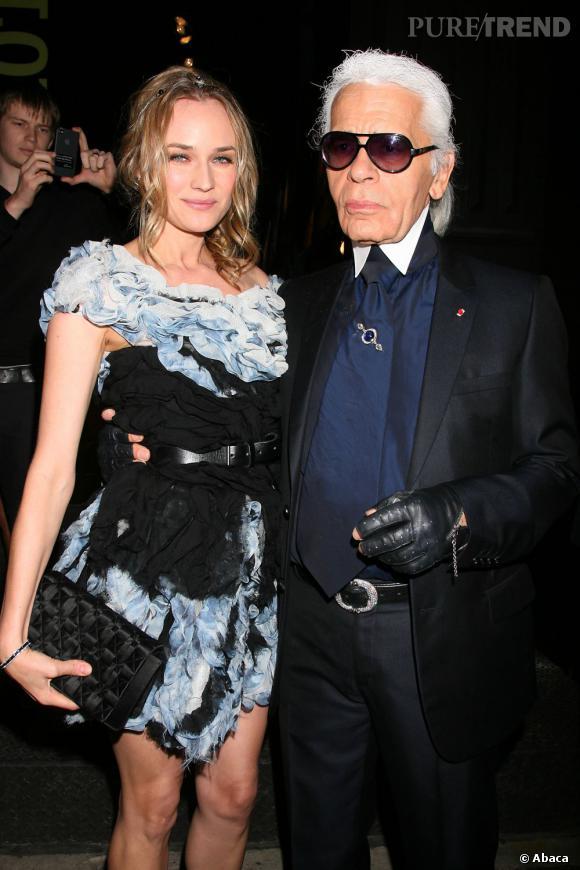 Diane Kruger a prêté son image à une ligne de sacs 100% Chanel.