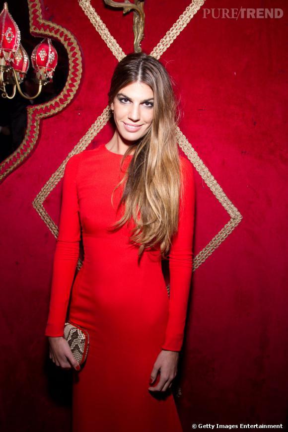Bianca Brandolini d'Adda au dîner Irreverent de Carine Roitfeld à Paris.