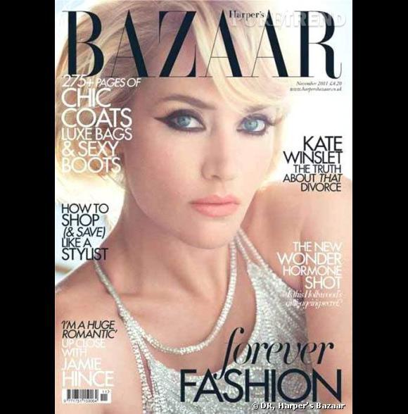 Kate Winslet en couverture du Harper's Bazaar de novembre 2011.