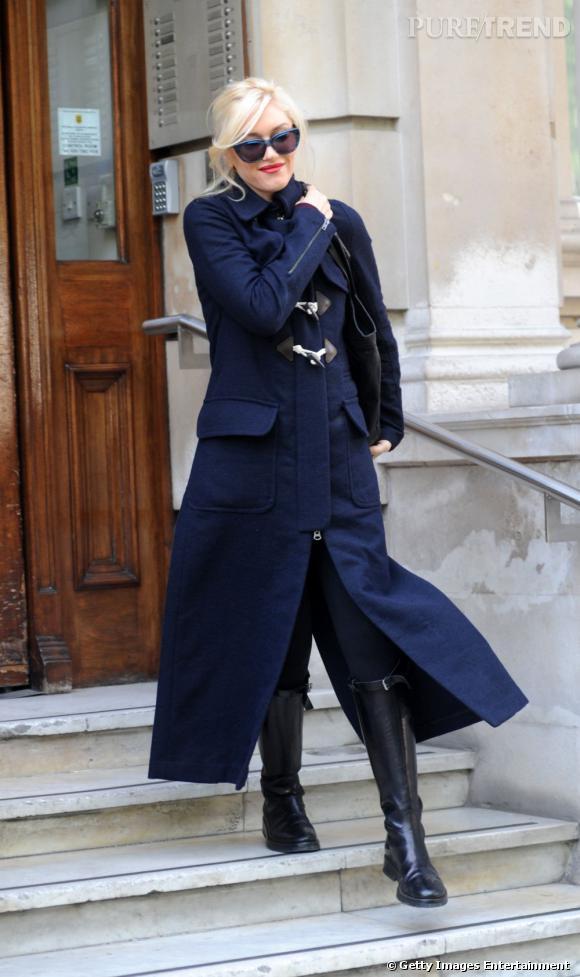 Gwen Stefani a dégoté un duffle coat d'une longueur peu habituelle !