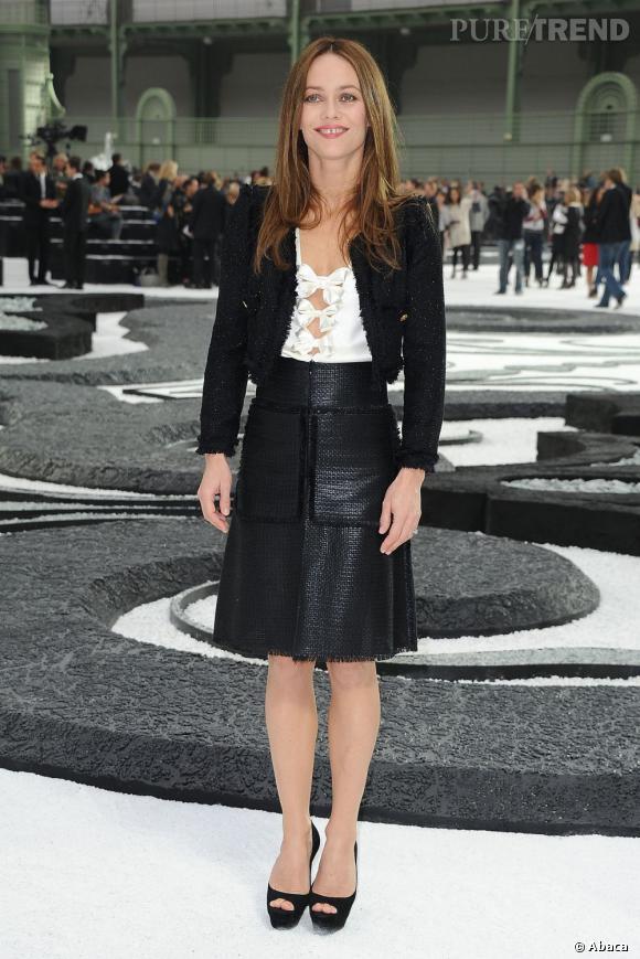 En tant qu'égérie Chanel, Vanessa se doit d'être en total look lors des évènements de la marque au camélia.