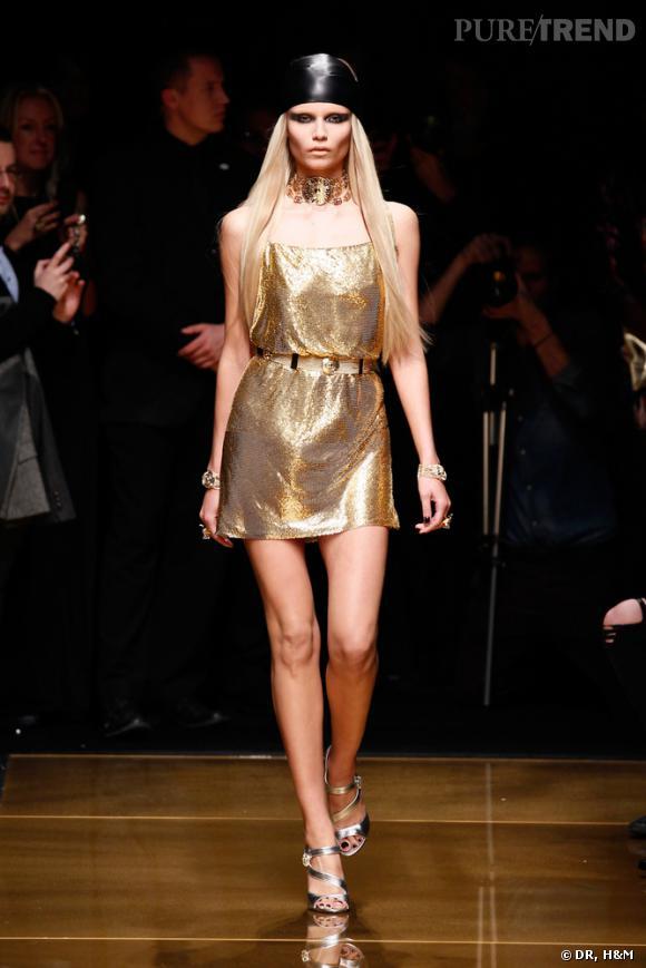 Défilé Versace pour H&M à New York.