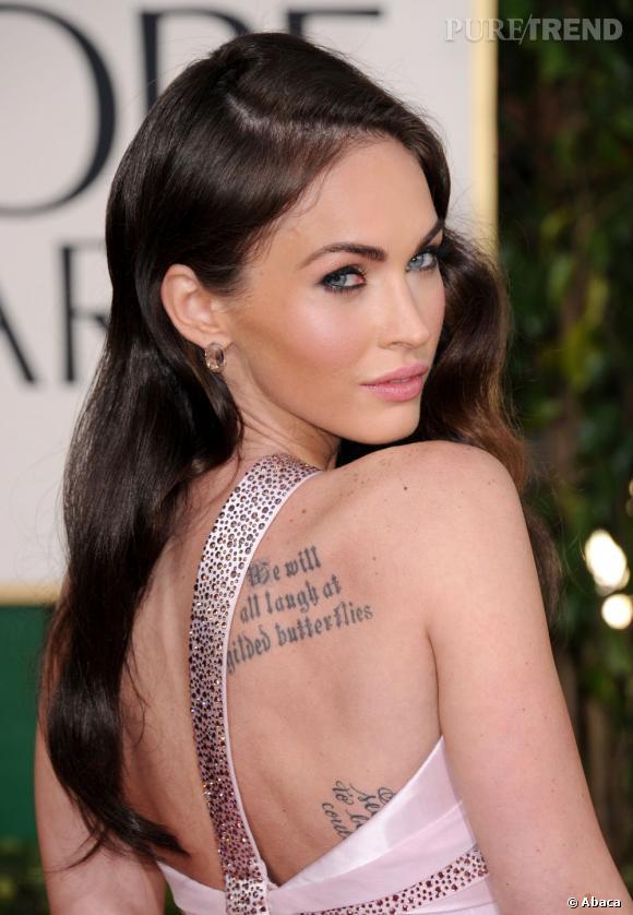 Megan Fox, glamour et provoc sur le red carpet accumule les tatouages.