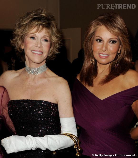 Jane Fonda et Raquel Welch en 2010, rayonnantes.