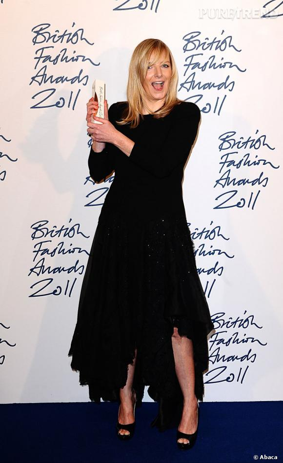 Sarah Burton, lauréate du prix de la meilleure créatrice de l'année pour Alexander McQueen.
