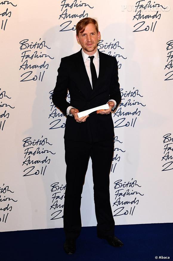 Christopher Raeburn, lauréat du prix du talent émergent catégorie homme.