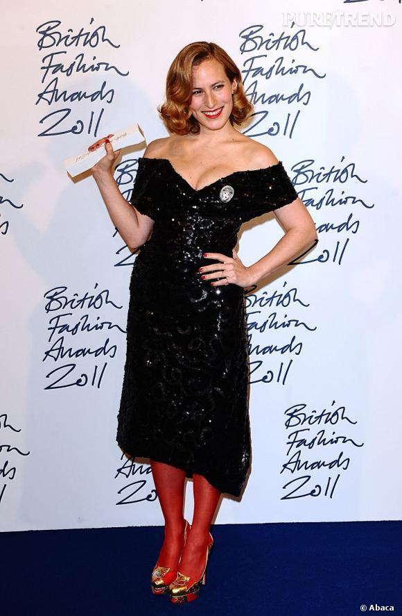 Charlotte Dellal, lauréate du prix de la meilleure créatrcie accessoires pour Charlotte Olympia.
