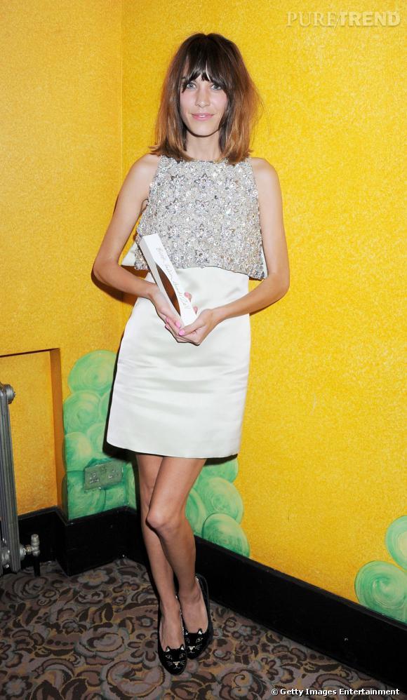 Alexa Chung, gagnante du prix British Style Award.