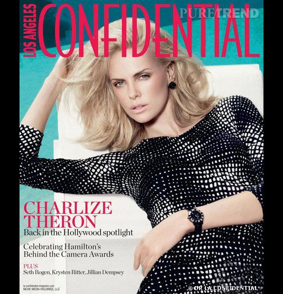 Charlize Theron pose pour le magazine LA Confidential du mois de decembre 2011.