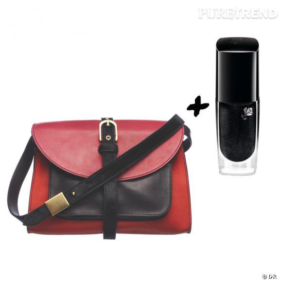 Vernis à ongles + it-bag : les it-combinaisons de l'Hiver    Sac Proenza Schouler, 1100 €   Vernis à ongles  Noir 29  Lancôme, 16,90 €.