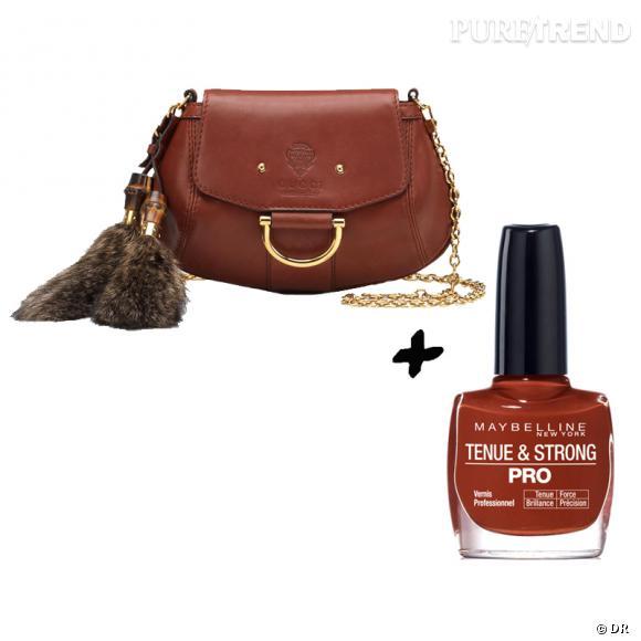 Vernis à ongles + it-bag : les it-combinaisons de l'Hiver    Sac  Smilla  Gucci, 1100 €  Vernis à ongles  Tenue & Strong Red Brick  Gemey, 6,64 €