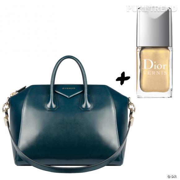 Vernis à ongles + it-bag : les it-combinaisons de l'Hiver    Sac  Antigona  Givenchy, environ 1300 €   Vernis à ongles  Or Divin  Dior, 20,70 €.