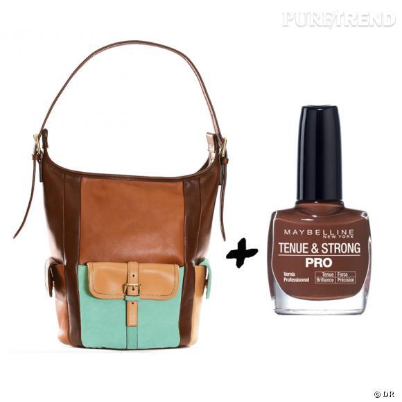 Vernis à ongles + it-bag : les it-combinaisons de l'Hiver    Sac  Gabby  Chloé, 1600 €  Vernis à ongles  Tenue & Strong Brown Brick  Gemey, 6,64 €