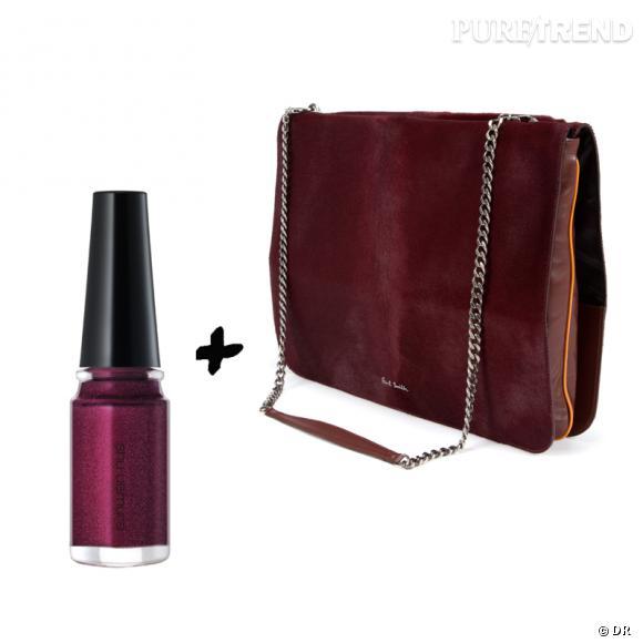 Vernis à ongles + it-bag : les it-combinaisons de l'Hiver    Sac pochette  Jasmine  Paul Smith, 1740 €   Vernis à ongles Shu Uemura, 22 €