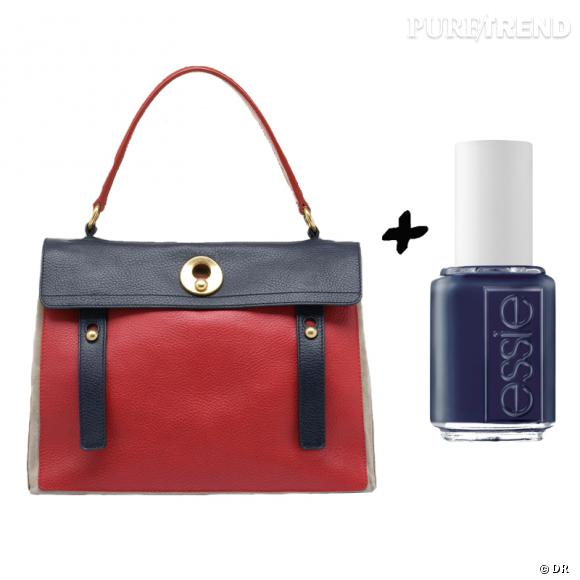Vernis à ongles + it-bag : les it-combinaisons de l'Hiver    Sac Muse Two Yves Saint Laurent, 1395 € sur www.ysl.fr   Vernis à ongles  Bobbing For Baubles , collection  Cocktail Bling , Essie, 11,90 €