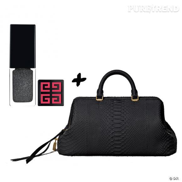 Vernis à ongles + it-bag : les it-combinaisons de l'Hiver    Sac  Black Python  Céline, 3400 €   Vernis à ongles Givenchy édition limitée, 16,50 €