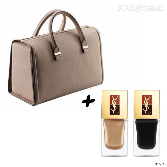 Vernis à ongles + it-bag : les it-combinaisons de l'Hiver    Sac Victoria Beckham, environ 2200 €   Vernis à ongles duo  Manucure Couture  Yves Saint Laurent, 30 €