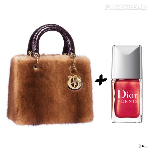 Vernis à ongles + it-bag : les it-combinaisons de l'Hiver    Sac  Lady Dior  en vison Dior, 8000 €  Vernis à ongles  Merveille  Dior, 20,70 €