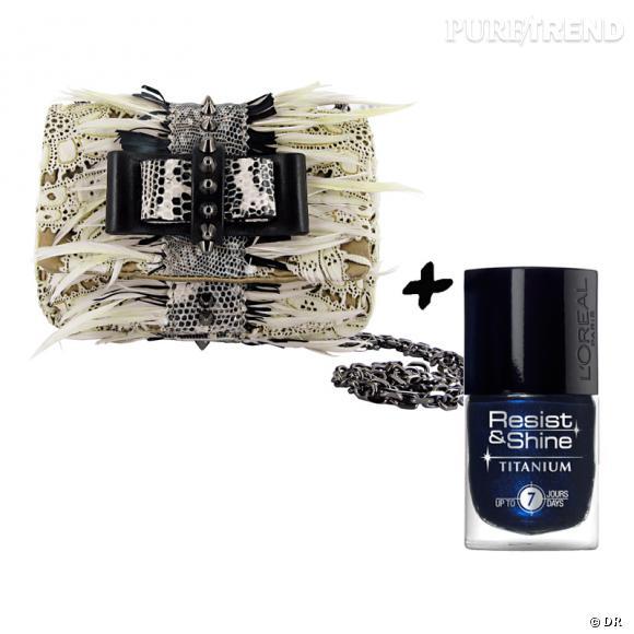 Vernis à ongles + it-bag : les it-combinaisons de l'Hiver    Sac pochette  Sweety Woodoo  Christian Louboutin, 995 €   Vernis à ongles  Resist & Shine  L'Oréal, 7,65 €.