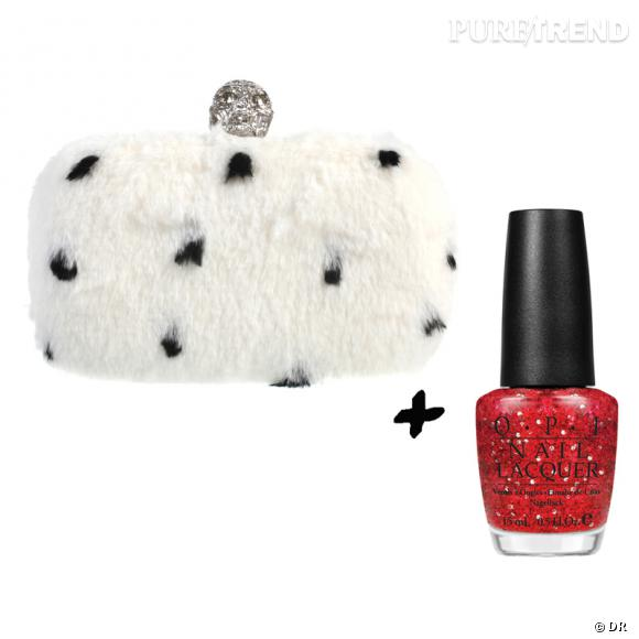 Vernis à ongles + it-bag : les it-combinaisons de l'Hiver    Minaudière Alexander McQueen, 1695 € sur  www.colette.fr   Vernis à ongles  Getting Miss Peggy With It  OPI, 13,90 €