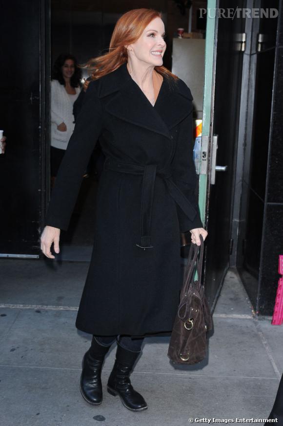 Marcia Cross en balade dans les rues de New York.