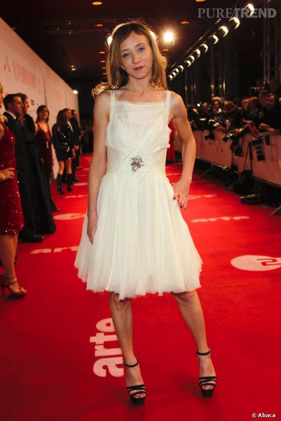 Sylvie Testud sur le red carpet du Festival du Film Européen à Berlin.