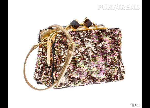 Sélection e-shopping obsession glitter !  www.miumiu.com Mini Bag Miu Miu, 780 €.