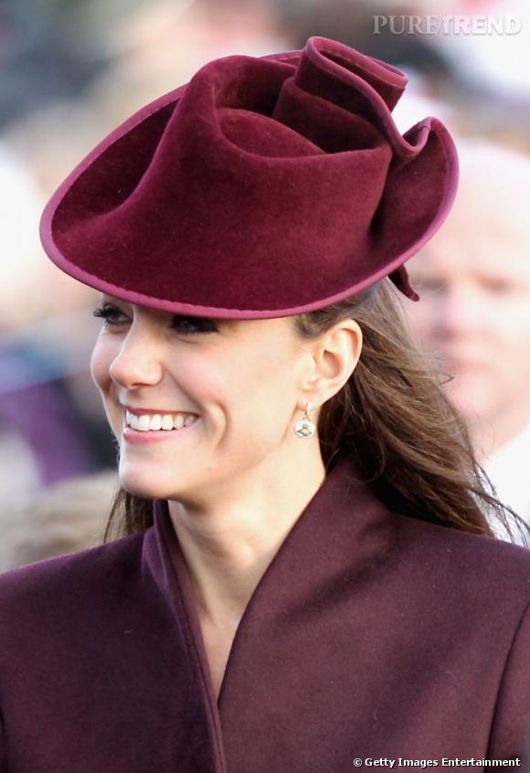 Kate Middleton au défilé de Noël de Sandringham, le 25 décembre 2011.